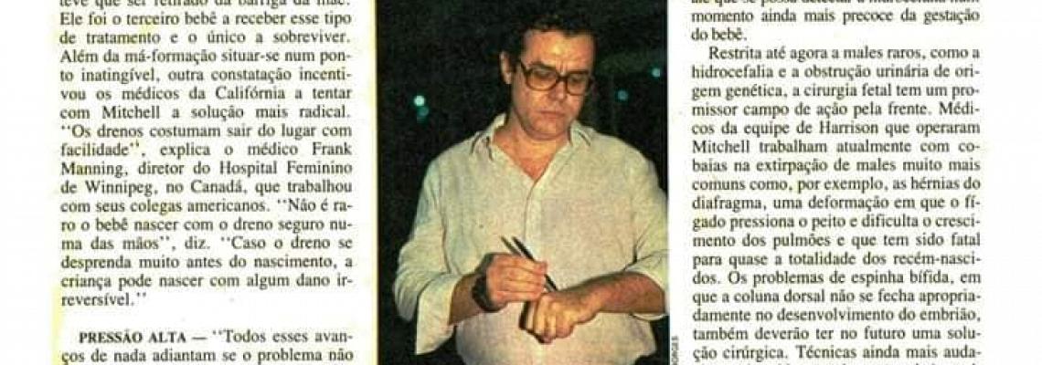 Prof. Bailão em Reportagem a Revista Veja 15/10/1986