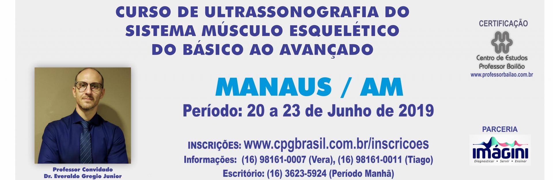 CURSO DE ULTRASSONOGRAFIA DO  SISTEMA M�SCULO ESQUEL�TICO  DO B�SICO AO AVAN�ADO - MANAUS/AM